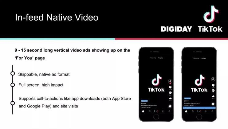 In feed native video